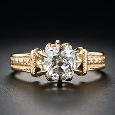 1.18 Carat Diamond Victorian Engagement Ring