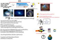 Video 3 Genesis Universe and Planet Earth Created By God. Bible Doctrine, Genesis 1, Gods Creation, Son Of God, Planet Earth, Timeline, Outline, Christ, Universe
