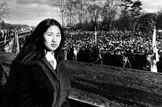 In this picture from Nov. Maya Lin, then only stands during the dedication of the Vietnam Memorial. Lin was a undergraduate student when she won a public competition to design the war memorial. Margaret Sanger, Margaret Thatcher, Valentina Tereshkova, Underground Railroad, Helen Keller, Harriet Tubman, Culture Club, Marie Curie, Girls Run The World