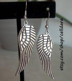 Wings of Flight Earrings by CellDara on Etsy