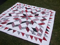 Carpenter's Star quilt 13 by arianescrafts, via Flickr