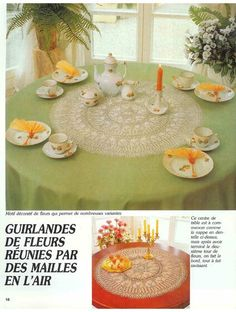 """Photo from album """"Burda special - - d`art"""" on Yandex. Lace Knitting, Views Album, Yandex Disk, Table Decorations, Journals, Accessories, Flower Tower, Floral Garland, Center Table"""
