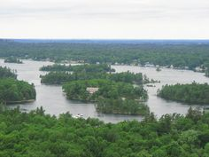 Border of Canada & USA - Thousand Islands