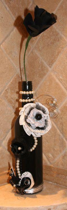 Recycled Wine Bottle Vase