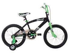 "Dynacraft 18"" Surge Boys BMX Bike with Training Wheels, Black / Green Dynacraft,http://www.amazon.com/dp/B00D5VGH5S/ref=cm_sw_r_pi_dp_c2IFtb1FME0K3DV3"