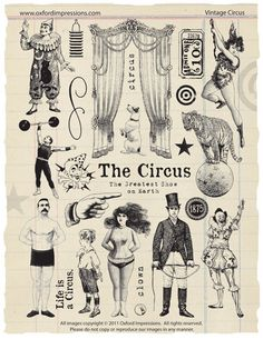 Vintage Circus Rubber Stamp Collection by oxfordimpressions, $24.00