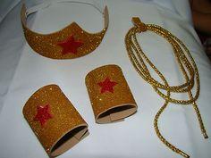 Wonder Woman inspired superhero Crown Head piece and Cuffs LASsO accessories | eBay