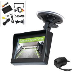 """Pyle PLCM44 4.3"""" LCD Monitor System & Backup Camera with Parking/Reverse Assist"""