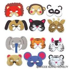 "Bear Foam Animal Mask by Rhode Island Novelty - COMASFA-Bear  These foam animal masks make simple yet effective costumes for Halloween or birthday parties. Elastic strap included. Measure 7""-13"""