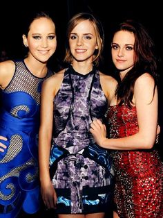 Notice how these are popular actresses? (Obviously) Lots of hate about Kristen Stewart, but she is a pretty descant actress it's just that the Twilight movies weren't as good writing as Harry Potter or The Hunger Games. Kristen Stewart is just doing her job as an actor like the rest of them.