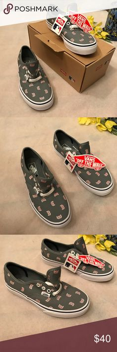 Vans Boston RED SOX unisex sneakers sz 2.5 kids Brand new unisex boston MLB. vans sneakers   Size 2.5     Comes from a pet free and smoke free home    See pictures for details any questions please feel free to comment Vans Shoes Sneakers