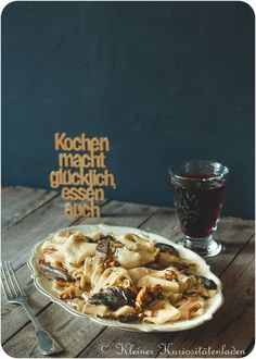 Pappardelle mit Pilzen und Tiroler Speck