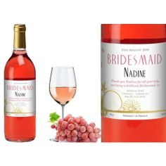 Personalised Wedding Rose Wine - Butterfly and Flower Design  from www.personalisedweddinggifts.co.uk :: ONLY £19.95