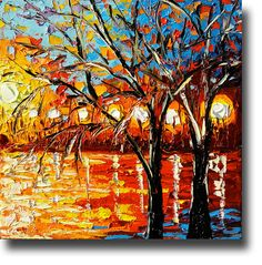 Oil Painting  ART Abstract Contemporary Fine Art Modern by bsasik, $260.00
