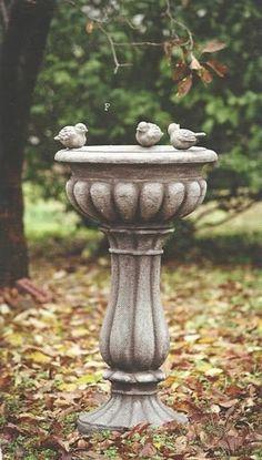 44 Bird Bath Design Ideas For Your Backyard Inspiration Bird Bath Garden, Garden Art, Garden Design, Garden Statues, Garden Sculpture, Stone Bird Baths, Autumn Garden, Garden Ornaments, Bath Design