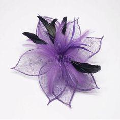 purple black feather flower