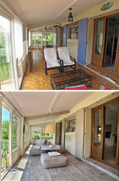 Home staging - Véranda avant/après
