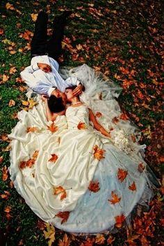 maple leaves wedding