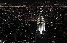 Chrysler building at night, photo: kim carpenter, cc: by Chrysler Building, Empire State Building, Art Nouveau, Building Windows, Art Gallery, Design Poster, Exhibition, Fantasy, Clipart Images