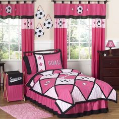 Features:  -Full/Queen Set includes one comforter and two pillow shams.  -Twin Set includes: Comforter, pillow sham, skirt, valance.  -Material: 100% Cotton.  -Create an incredible room for your child