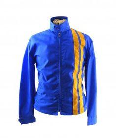 Cool blue racing jacket