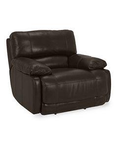 Nina Leather Dual Power Reclining Sofa Shops Leather