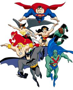 Héros Dc Comics, Batman Comics, Bruce Timm, Aquaman, Justice League Animated, Super Heroine, Superhero Poster, Superman Man Of Steel, Joker Art
