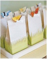 butterfly party treat bags