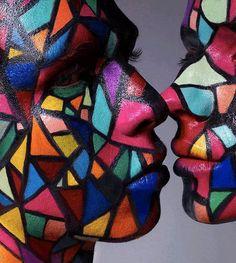 Crazy Face Paint #art #paint #face