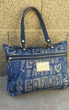 New Coach Poppy Story Patch grafitti Blue Jean Glam Tote 15301 purse handbag bag Coach Handbags Outlet, Coach Outlet, Coach Purses, Tote Handbags, Purses And Handbags, Online Bags, Online Outlet, Cheap Coach Bags, Spring Handbags