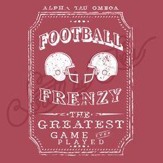 Fraternity Social Alpha Tau Omega Football Helmet South By Sea