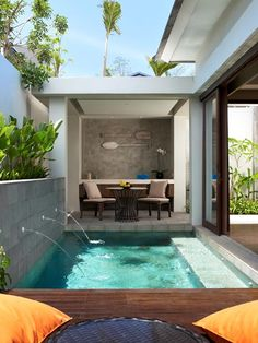 Check for availability across our resorts throughout Thailand & Indonesia by selecting a destination from the drop-down menu below. Small Swimming Pools, Small Pools, Swimming Pools Backyard, Swimming Pool Designs, Small Indoor Pool, Small Backyard Patio, Backyard Pool Designs, Backyard Ideas, Small Pool Design