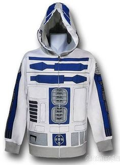 R2D2 hoodie that zips up all the way - Boing Boing