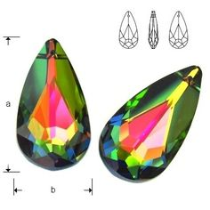 6100 Teardrop 24mm Vitrail Medium  Dimensions: 24,0x12,0 mm Colour: Vitrail Medium 1 package = 1 piece