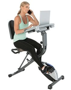 Exerpeutic WorkFit 1000 Fully Adjustable Desk Folding Exercise Bike with Pulse - Mejaku Folding Exercise Bike, Best Exercise Bike, Gym Exercise Equipment, Upright Exercise Bike, Upright Bike, Exercise Bike Reviews, Fitness Equipment, Desk Workout, Workout Gear