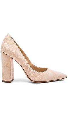 Revolve pink blush suede heel shoes