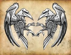 Norse Ravens, Ravens where just as special to the Vikings as there knotwork was to show their family bond. Ravens would often travel with the Vikings during their voyages, so we could also say, Ravens helped shape the earth too. If it wasn't for them, maybe the Vikings wouldn't have found lands.