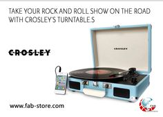 Crosley Cruiser Turntable - Turquoise Love the rich, warm sound of vinyl, but wish it was a more moveable music format? Put down the iPod and mobilize your music with the Crosley Cruiser three-speed p Built In Speakers, Stereo Speakers, Portable Record Player, Record Players, Dot And Bo, Joss And Main, Cool Stuff, Stuff To Buy, Random Stuff