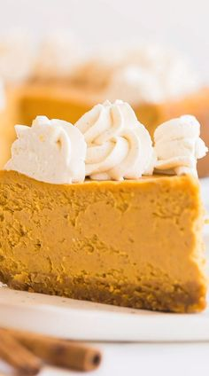 This Pumpkin Cheesecake is creamier and easier than the rest, thanks to one secret method and no water bath! This Pumpkin Cheesecake is creamier and easier than the rest, thanks to one secret method and no water bath! No Bake Pumpkin Cheesecake, Easy Cheesecake Recipes, Chocolate Cheesecake, Gingerbread Cheesecake, Cheesecake Desserts, Lemon Cheesecake, Strawberry Cheesecake, Baked Pumpkin, Pumpkin Recipes