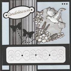 Voorbeeldkaart - Condoleances - Categorie: Borduren - Hobbyjournaal uw hobby website