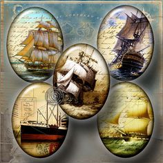 Old Travel Postcard  Digital Collage Sheet CG641O by CobraGraphics, $4.20