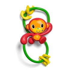 Infantino Go Bananas Rattle by Infantino. $10.95. Monkey makes a soft rattling sound. Easy for little ones to grasp and shake. 4 busy bead bananas. From the Manufacturer The Infantino Go Bananas Rattle is a silly monkey activity rattle that's easy to grasp and great for busy little hands. With 4 rattling banana beads it is sure to keep baby entertained. Product Description Infantino Go Bananas Rattle