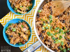 Southwest Chicken Skillet: I made this without the green onions, and we are it with Tostitos scoop chips. It was great, and it would also be good on tortillas.