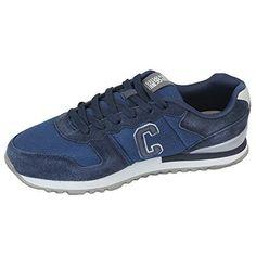 Herren Sportschuhe Crosshatch Sneakers Schuhe mit Schnürsenkel Wildleder Rennschuhe Netz Designer Neu - Leder und Stoff, 43, Marienblau - HADDEN - http://on-line-kaufen.de/crosshatch/43-herren-sportschuhe-crosshatch-sneakers-mit