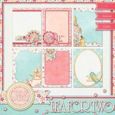 Tea For Two Journal Cards Digital Scrapbook by JssScrapBoutique, $2.99