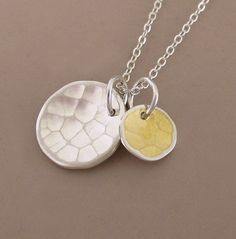 Adding some new items to my shop this month! Hammered Sterling Silver and 18k Gold Necklace - Pool by esdesigns, $46.00
