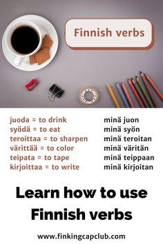 Finnish Grammar, Finnish Words, Finnish Language, Learn Finnish, Finland, Scandinavian, Printable, Culture, Teaching