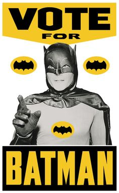 Undecided between #Romney and #Obama? Vote for Batman