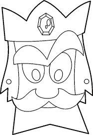 Resultado de imagen de king mask template