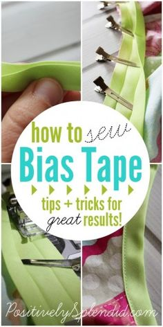 The Best Way to Sew Bias Tape - Positively Splendid {Crafts, Sewing, Recipes and Home Decor}